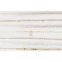 7 Pack Multicoloured Bead Friendship Bracelets New Look