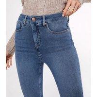 Petite Blue Contour Super Skinny Jeans New Look