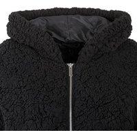 Tall Black Teddy Hooded Jacket New Look
