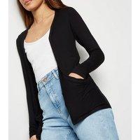 Black Jersey Cardigan New Look