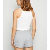 Grey Elasticated Jersey Shorts New Look