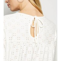 JDY White Broderie Top New Look
