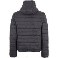 Grey Hooded Puffer Jacket New Look