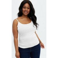 Curves White Longline Strappy Cami New Look