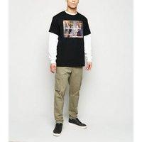 Black Portrait Gallery Art Meme Slogan T-Shirt New Look