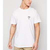 White OK Print T-Shirt New Look