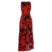 AX Paris Red Floral Ruffle Midaxi Dress New Look