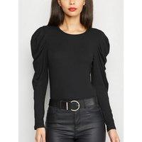 AX Paris Black Puff Sleeve Bodysuit New Look
