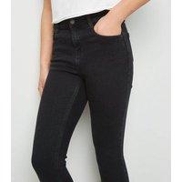 Girls Black High Waist Super Skinny Jeans New Look