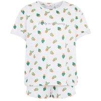 Girls Light Grey Cactus Slogan Pyjama Set New Look