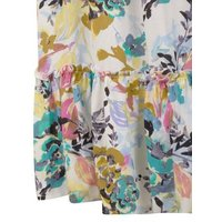 JDY Off White Floral Frill Midi Skirt New Look