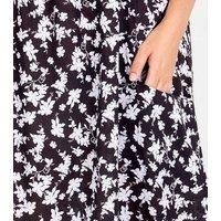 Blue Vanilla Curves Black Floral Mini Swing Dress New Look