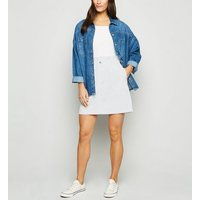 Noisy May White High Waist Denim Skirt New Look