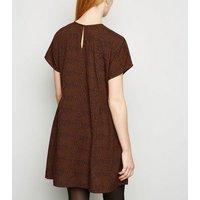 Influence Orange Animal Print Smock Dress New Look