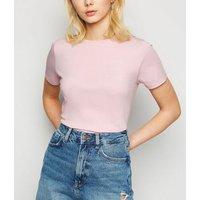 Mid Pink Short Sleeve Crew T-Shirt New Look
