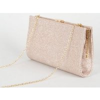 Rose Gold Shimmer Clutch Bag New Look Vegan