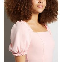 Pale Pink Puff Sleeve Bodysuit New Look