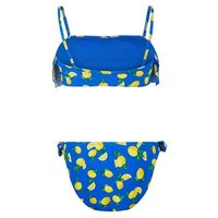 Girls Blue Lemon Print Bandeau Bikini Set New Look