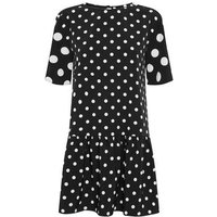 Urban Bliss Black Polka Dot Smock Dress New Look