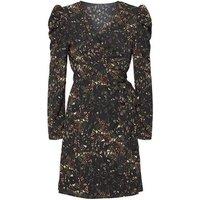 Urban Bliss Black Floral Mini Wrap Dress New Look