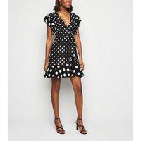 Urban Bliss Black Polka Dot Dress New Look