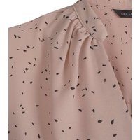Pink Confetti Print Puff Sleeve Long Blouse New Look