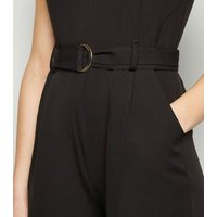 Mela Black D Ring Belted Culotte Jumpsuit New Look