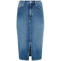 Tall Blue Lift and Shape Denim Pencil Skirt New Look
