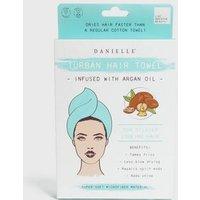 Green Argan Oil Infused Hair Towel New Look