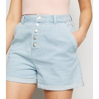 Urban Bliss Blue Light Wash Denim Shorts New Look