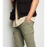 Bellfield Khaki Cotton Cargo Trousers New Look