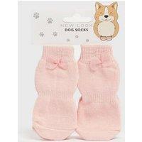 Pink Dog Socks New Look