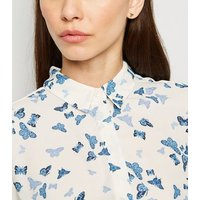 White Butterfly Print Shirt New Look
