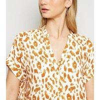 White Leopard Print Short Sleeve Shirt New Look