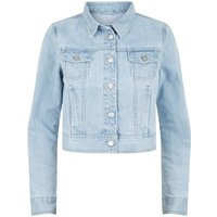 Urban Bliss Pale Blue Denim Jacket New Look
