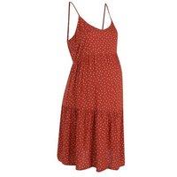 Maternity Rust Spot Tiered Mini Dress New Look