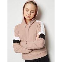 Girls Pink Colour Block Hoodie New Look