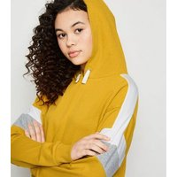 Girls Yellow Colour Block Hoodie New Look