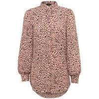 Tall Pink Animal Print Puff Sleeve Shirt New Look