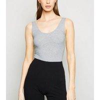Grey Marl Vest Bodysuit New Look