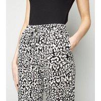 Black Leopard Print Joggers New Look