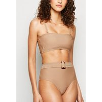 Vero Moda Light Brown High Waist Bikini Bottoms New Look