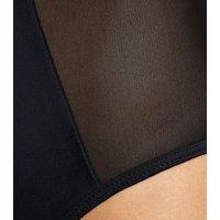 Vero Moda Black Mesh Cross Back Swimsuit New Look