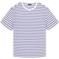 Plus Size Lilac Contrast Stripe Organic T-Shirt New Look