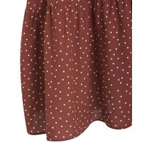 Rust Spot Tiered Strappy Sundress New Look