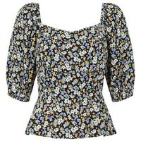 Black Ditsy Floral Square Neck Top New Look