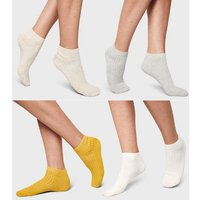 4 Pack Multicoloured Ribbed Trainer Socks New Look