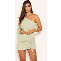 AX Paris Mint Green Ruched One Shoulder Dress New Look