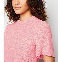 Pink Daisy Print Flutter Sleeve Mini Dress New Look