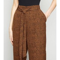 Brave Soul Animal Print Wide Leg Trousers New Look